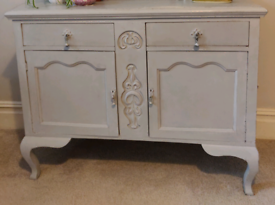 Solid oak contemporary vintage shabby chic sideboard dinning