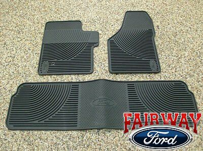 - 06 07 08 09 10 Super Duty F250 F350 OEM Ford Rubber Floor Mat 3-pc Crew Cab
