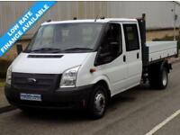 64(14) FORD TRANSIT 350 DRW DOUBLE CREW CAB TIPPER 2.2 RWD 125BHP 6 SPEED EURO 5