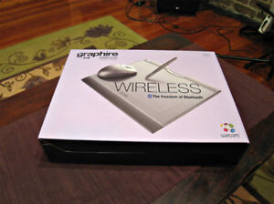 Wacom Wireless Graphire Bluetooth pen and pad drawing New!
