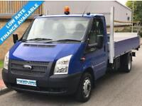 13(13) FORD TRANSIT 350 LWB E/F DRW FLATBED DROPSIDE 2.2 RWD EURO 5 58K MILES