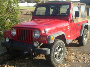 WANTED!!  Jeep Tj , Yj, with 4 cylinder , Less than $3000.