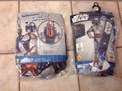 Star Wars Jango Fett Large Kids Costume With Inflatable Jetpack - Jango Fett Costume With Jetpack
