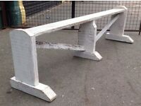 Painted White Bench