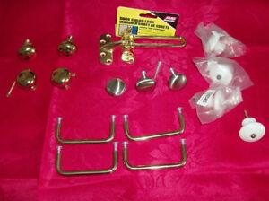 Cabinet or Dresser Knobs + New Door Guard Lock + Books