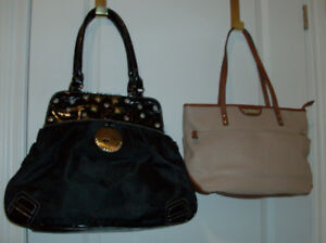 3 Purses or Handbags - 2 Tone + Animal Print + Beverly Hills