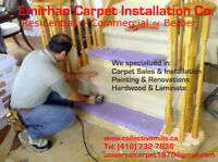 Wall to wall carpet sale and installation