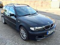 2002 BMW 325I SPORT ESTATE 5 SPEED MANUAL BLACK NEW MOT E46 PETROL