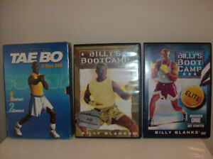 4 Exercise DVD's  Tae Bo (2 are New)