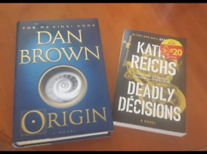 Dan Brown's Origin and Kathy Reich's  Deadly Decisions