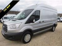 2014 14 FORD TRANSIT 2.2 TDCI 350 TREND LWB HIGH ROOF155 BHP SILVER 59061 MILES