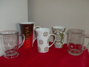 5 NEW Coffee Mugs + Tea for Two by Phillips + 2 corningware mugs
