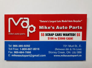MIKE'S AUTO PARTS has been paying top dollar for   47 years!!
