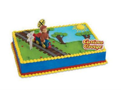 Curious George Train cake decoration Decoset cake topper set party toys