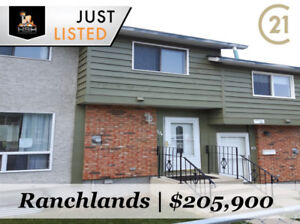 EXCELLENT VALUE! SPACIOUS 3 BED RANCHLANDS TOWNHOUSE-$205,900