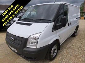 2012 62 FORD TRANSIT 2.2 TDCI T300 SWB LOW ROOF 125 BHP TAILGATE TWIN SIDE DOORS