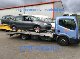 Wanted scrap cars and vans cash paid collection all Bristol areas