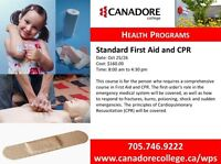 First Aid and CPR, Parry Sound, Canadore College