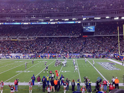 NEW ENGLAND PATRIOTS CONFERENCE CHAMPIONSHIP PLAYOFF TICKETS LOWER SIDEINE