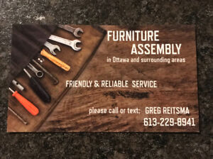 FURNITURE ASSEMBLY / ASSEMBLE PRÈODUCTS