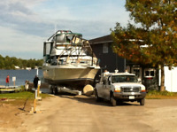 Winter Boat Storage and Service at Bush's Marina