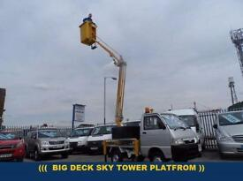 2005 55 PIAGGIO PORTER 1.4 PICK-UP PLATFROM CHERRYPICKER BIG DECK DIESEL