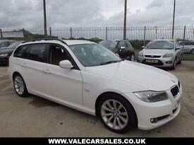 2009 59 BMW 3 SERIES 318I SE BUSINESS EDITION TOURING **RED LEATHER / SAT NAV**