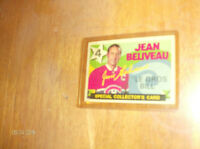 "JEAN BELIVEAU  1971-1972  0-PEE-CHEE   "" SPECIAL RETIREMENT CARD"