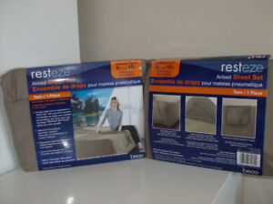 2 Sets New Twin Sheets for Air Mattresses & Aritist Lamp & Print