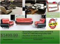 ◆FREE Coffee Table◆Brand New Leather Sofa SET@NEW DIRECTION!
