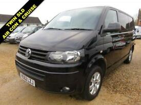 2012 62 VOLKSWAGEN TRANSPORTER 2.0 T28 TDI HIGHLINE 102 BHP SWB BLACK 70436 MILE