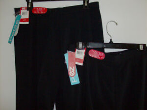 NEW with Tags 2 Pair Ladies Pants - Black Size  10 Petite