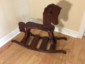 Wooden Rocking Horse (Toddler Size) - handmade - only $15