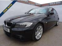2011 11 BMW 3 SERIES 2.0 320D M SPORT 4D AUTO 181 BHP BLACK LEATHER DIESEL