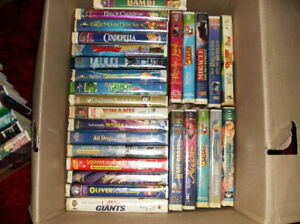 133 kids Walt Disney's VHS collectables.