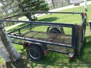utility trailer 8x5  with drive on tail gate 2 inch ball