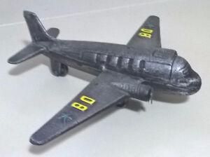 Vintage Cast Iorn Metal Airplanes Model with initials D8