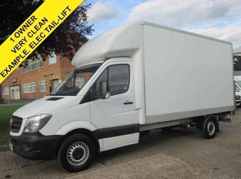 2014 14 MERCEDES-BENZ SPRINTER 2.1 313CDI LUTON BOX LWB. TAIL-LIFT. 1 OWNER.