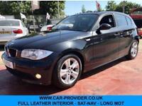 2005 BMW 118D SE 2.0 SAT-NAV FULL LEATHER LONG MOT 5DR 121 BHP DIESEL