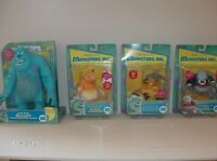"4 ORIGINAL  "" MONSTERS INC. ""  FIGURES from 2001  !!"