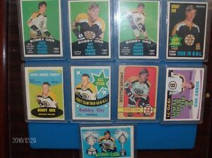 BOBBY ORR VINTAGE O-PEE-CHEE CARDS  ( 1969-1970-1971-1972 ) !!!!