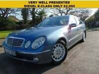 LOVELY 2002 AUTOMATIC MERCEDES-BENZ E270 2.7TD CDI CLASSIC VERY WELL PRESENTED