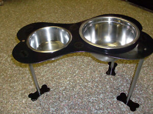 Funky/Fun/Industrial, Heavy Duty Steel Pet Feeding Station Stratford Kitchener Area image 1