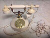 Vintage shabby chic phone.