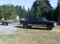 2001 Dodge Power Ram 1500 Pickup Truck with boat and trailer