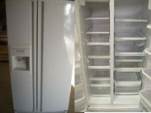 Refrigerator Side by Side Water and Ice Durham Appliances Ltd.