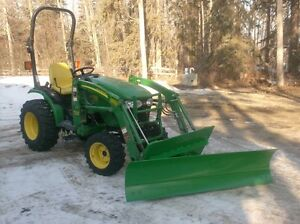 Blades, Pallet Forks, Tree Scoops for SMALL JD TRACTORS