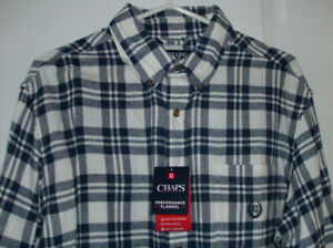 NEW Tag On Mens Chaps Shirt - Soft Flannel  Size Large