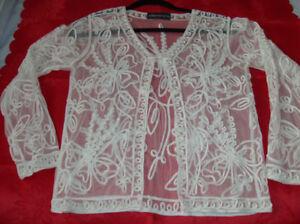 2 NEW Designer Blouse + Lace Jacket  Size Small