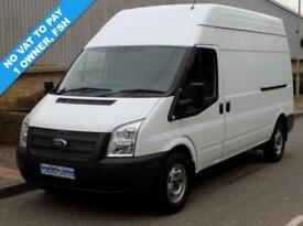 62(12) FORD TRANSIT 350 LWB HIGH ROOF 2.2 FWD 125 BHP 6 SPEED DIESEL * NO VAT *